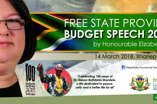 Free State Provincial Budget Speech 2018