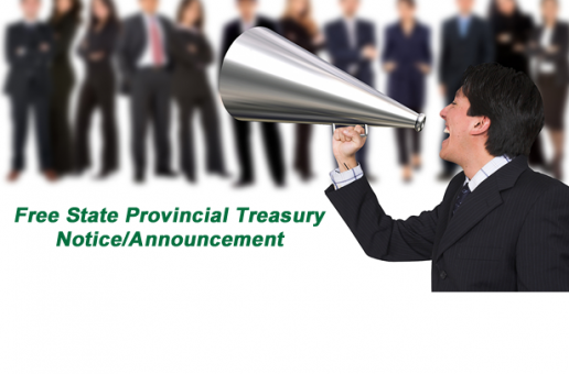 Free State Provincial Treasury Announcement